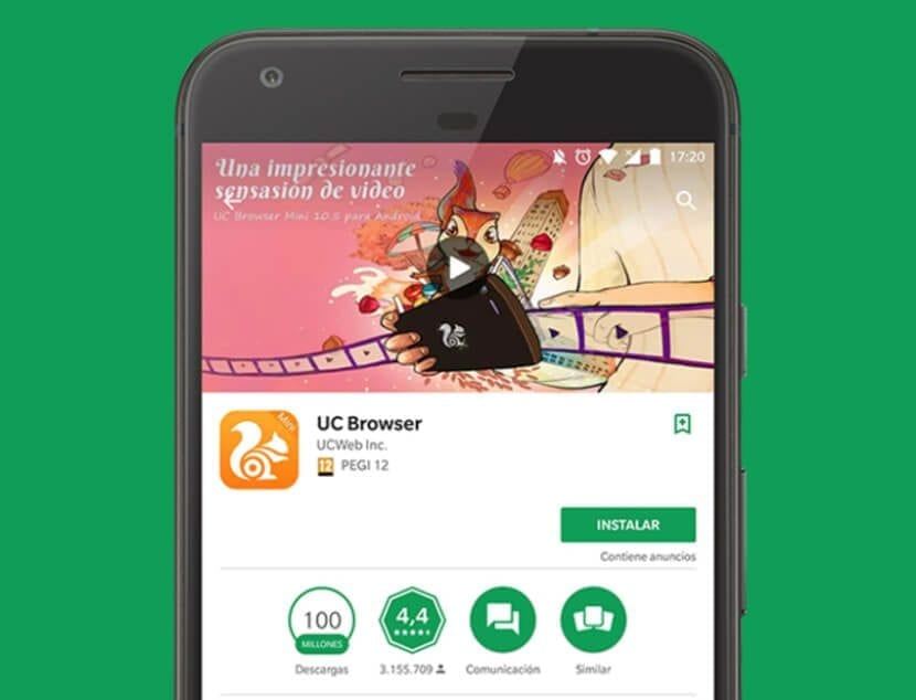 Google Play con UC Browser