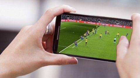 fútbol en el smartphone