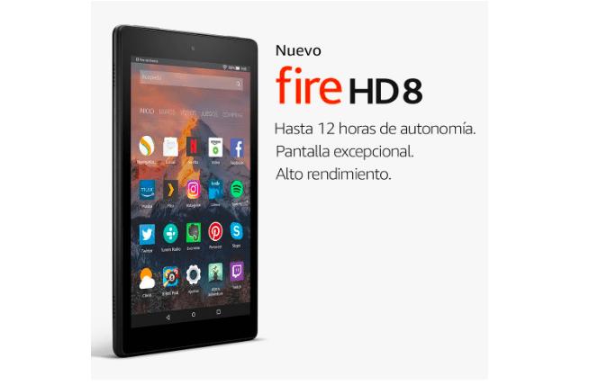 Nueva tablet Fire HD 8 pulgadas en oferta