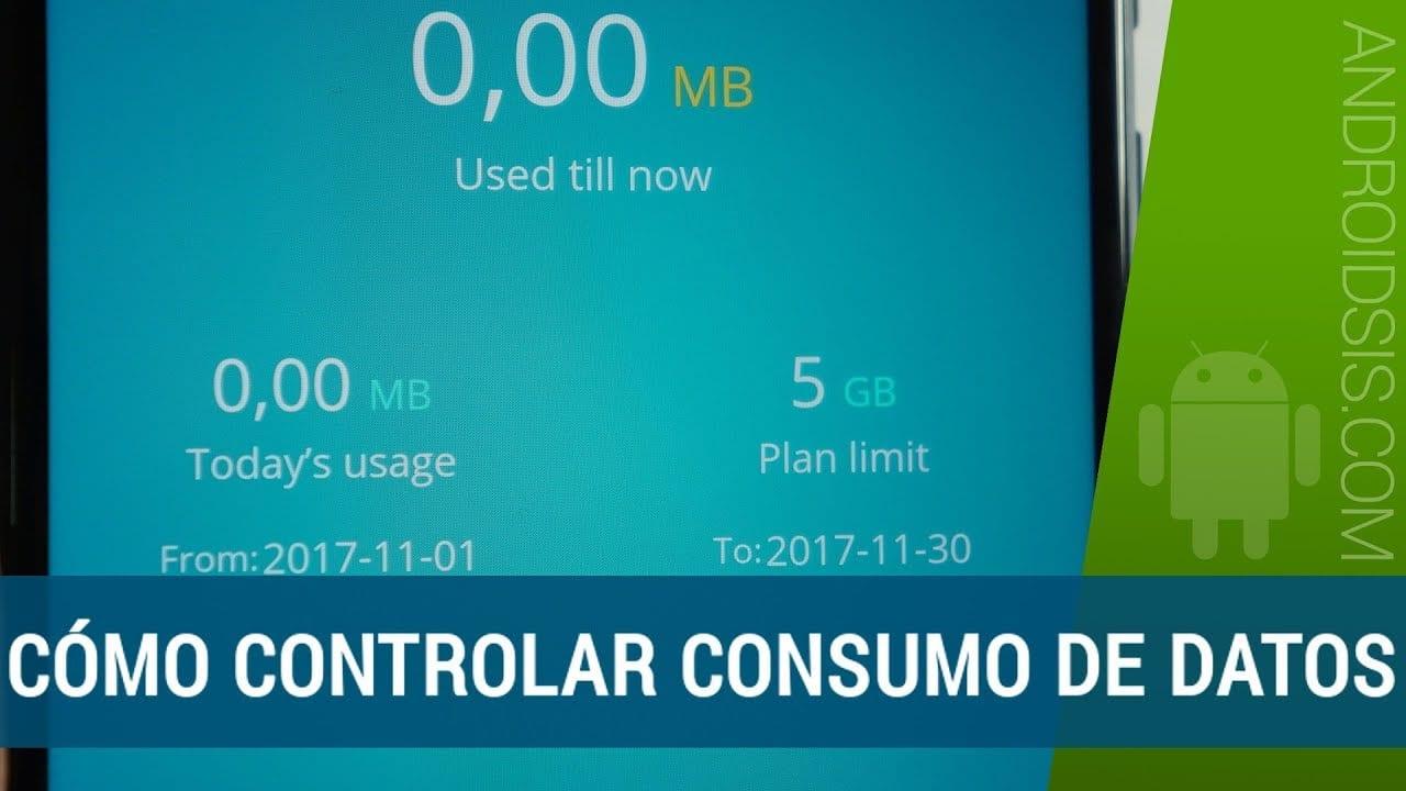 Controlar consumo de datos móviles