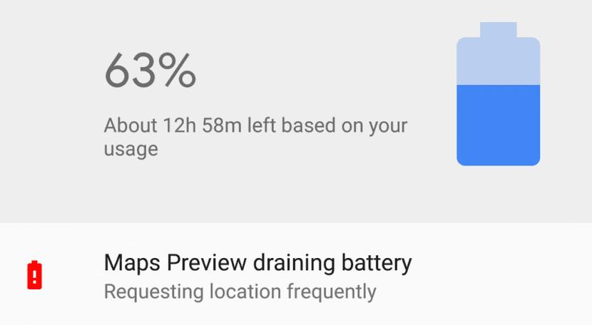 Android Oreo batería