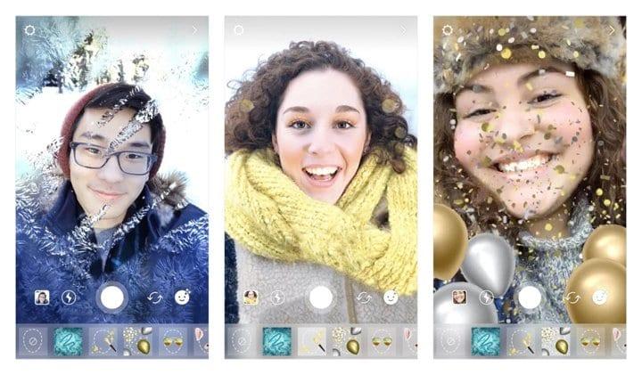 Instagram filtros Navidad