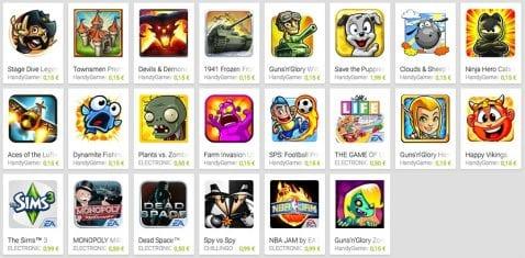 Juegos de la Play Store