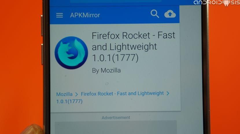 Descargar Firefox Rocket, probablemente el navegador web más rápido para Android