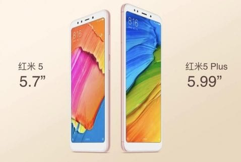 Redmi 5 y 5 Plus