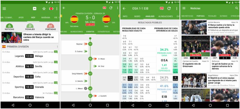 Resultados de fútbol se mantiene actualizado día a día