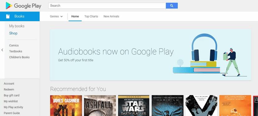 Google Play Audiolibros