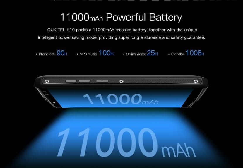 OUKITEL K10 Batería