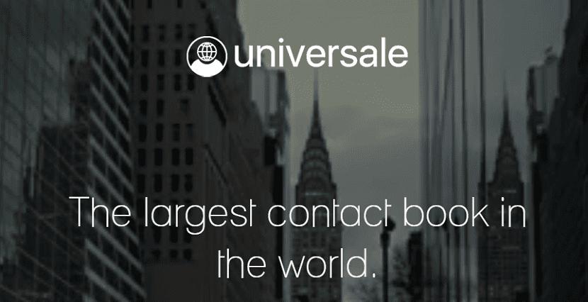 Universale agenda de contactos