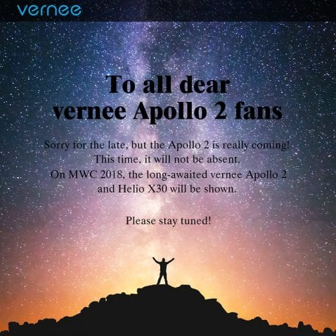 Vernee Apollo 2 en el Mobile World Congress