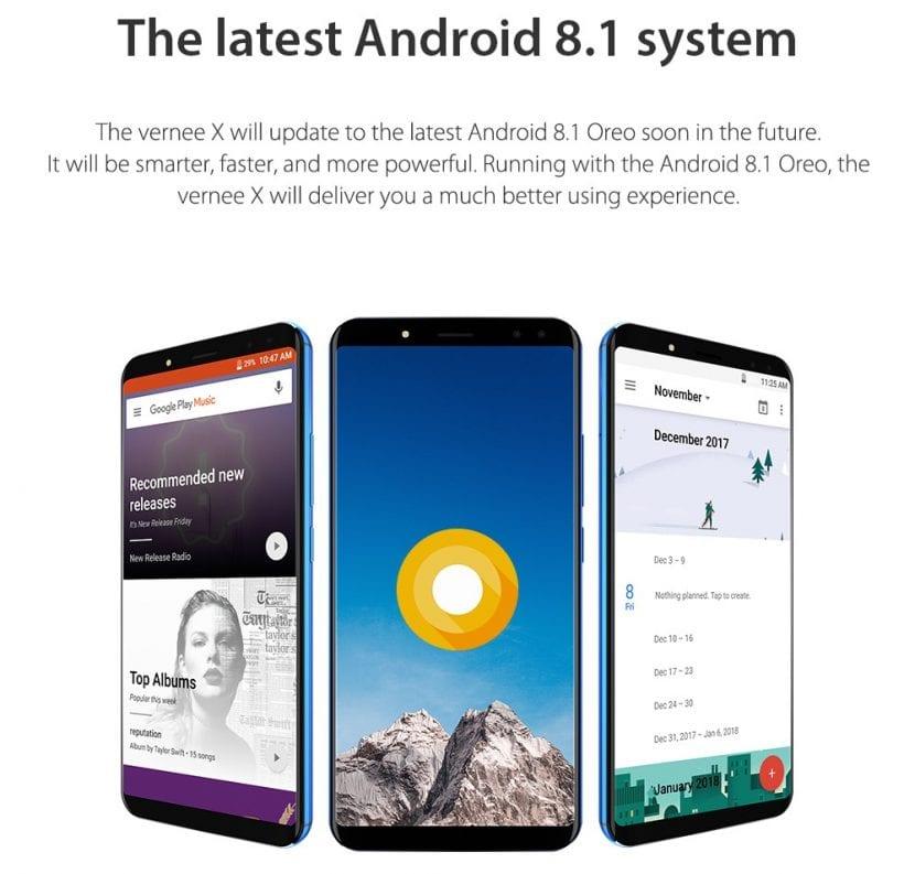 Android Oreo llegará al Vernee X