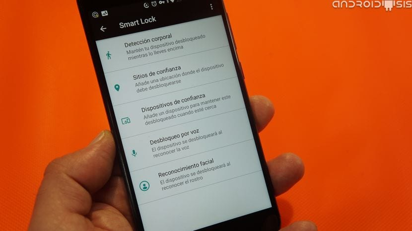 Desbloqueo facial dentro de Smart Lock en el Xiaomi Mi A1