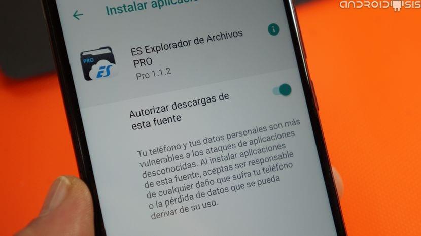 Activar orígenes desconocidos en Android Oreo
