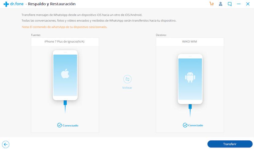 copiar conversaciones WhatsApp de iPhone a Android