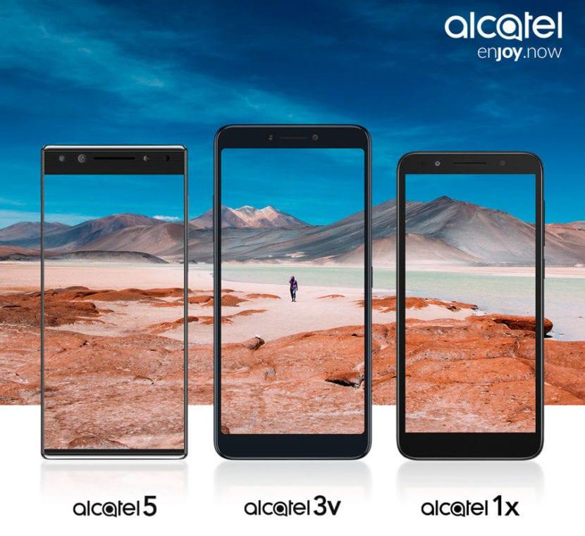 Alcatel 5, Alcatel 3V y Alcatel 1X