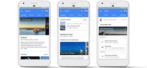 Google buscador viajes