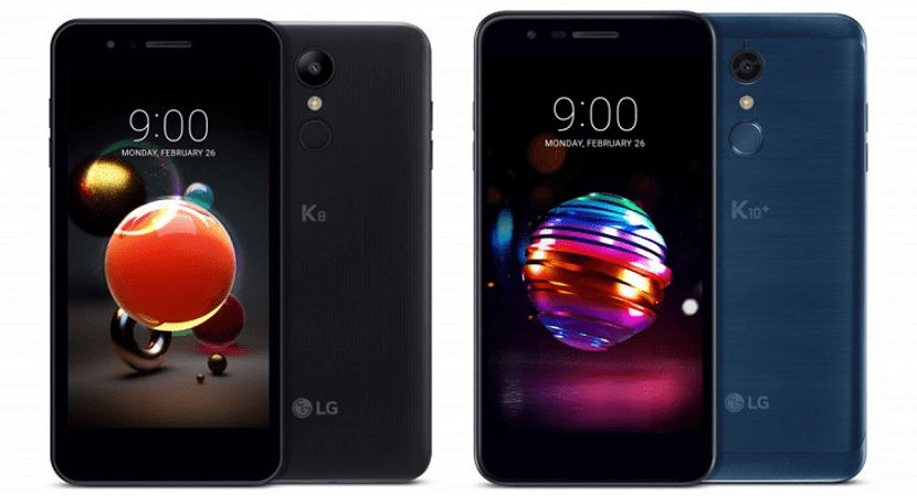 LG K8 y LG K10 2018