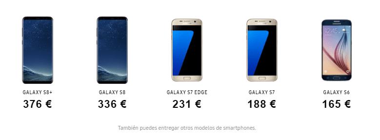Precios Samsung Renove