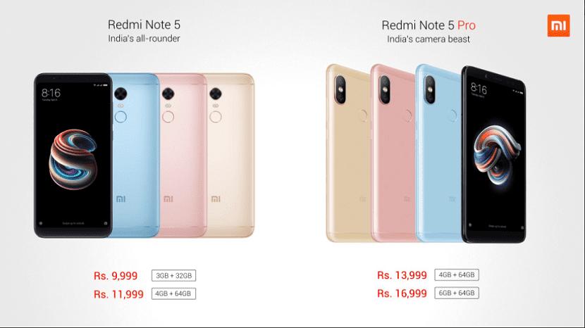 Xiaomi Redmi Note 5(cinco) y 5(cinco) Pro