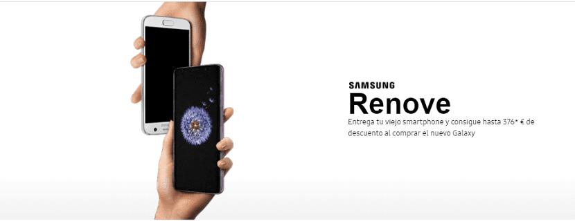 Samsung Renove: el sistema de descuentos para el Galaxy S9
