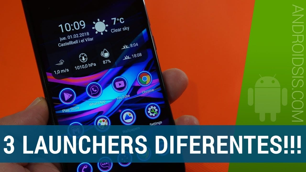 3 Launchers diferentes para Android