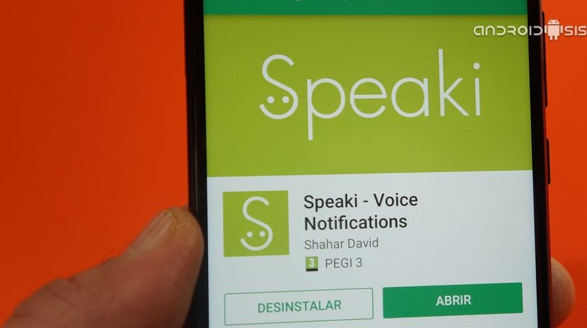 Speaky en el Play Store