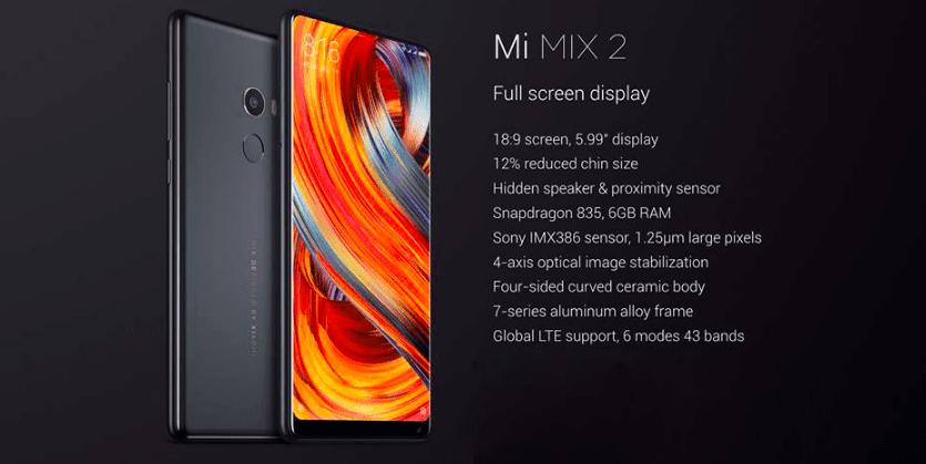 Xiaomi Mi MIX 2 código promocional