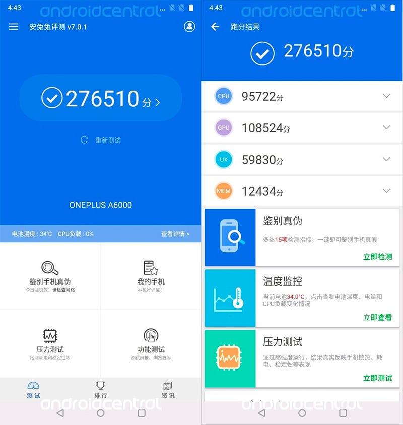 Benchmark OnePlus 6