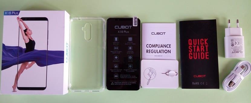 CUBOT X18 Plus contenido de la caja