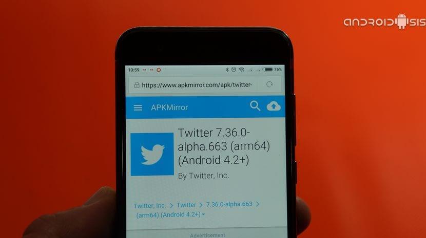 Descargar apk de Twitter con la funcionalidad de guardar elementos para ver luego