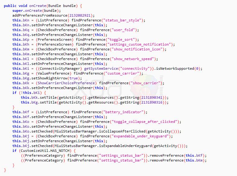 Códigos de archivos Xiaomi Mi 7