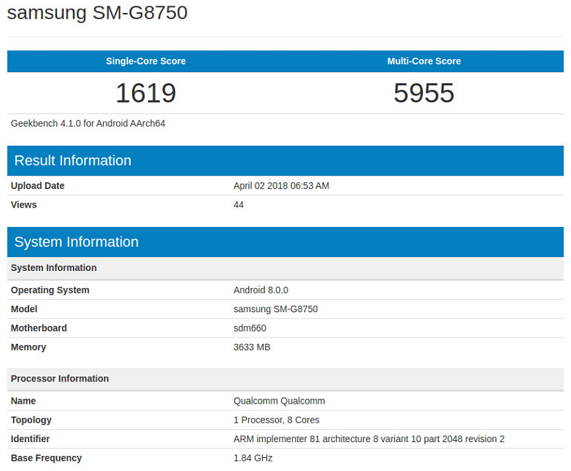 Benchmark Galaxy S9 Mini