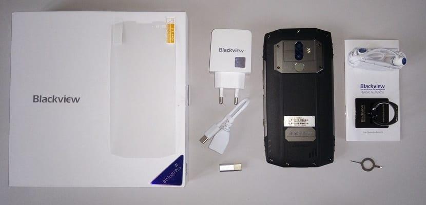 Blackview BV 9000 Pro contenido de la caja