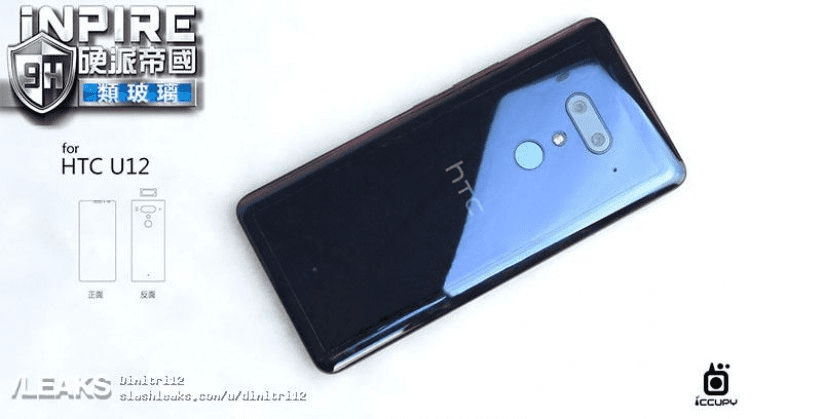 HTC U12 diseño(design) parte trasera