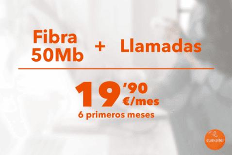 La mejor tarifa de fibra de Euskaltel