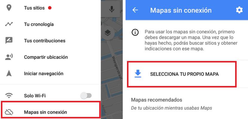 Mapas sin conexion Google Maps