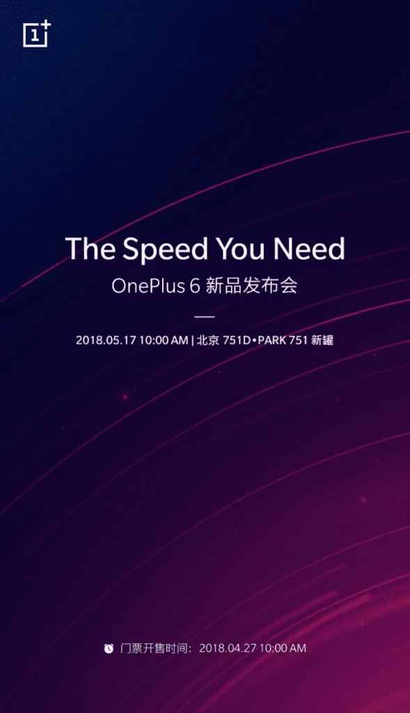 OnePlus 6 presentacion