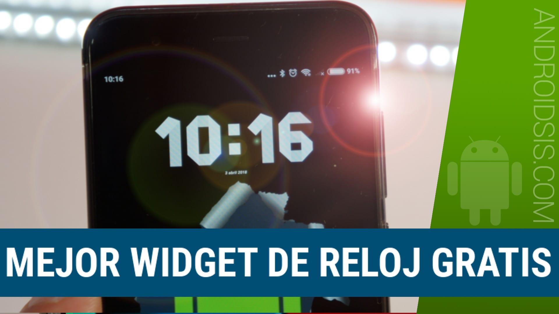 El mejor Widget reloj gratis para tu Android