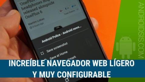 Increíble navegador Web ligero, rápido, con bloqueo de anuncios y con muchas funcionalidades interesantes