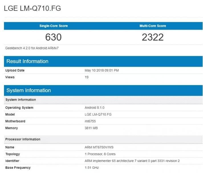Especificaciones LG Q7
