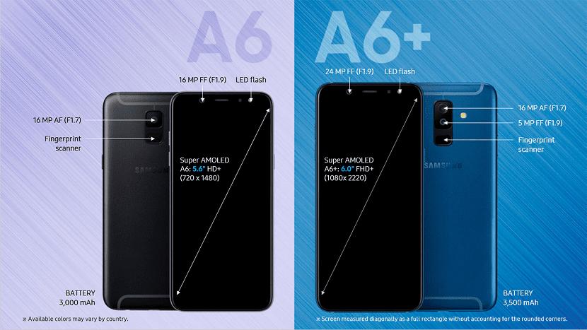 Galaxy A6 y A6+