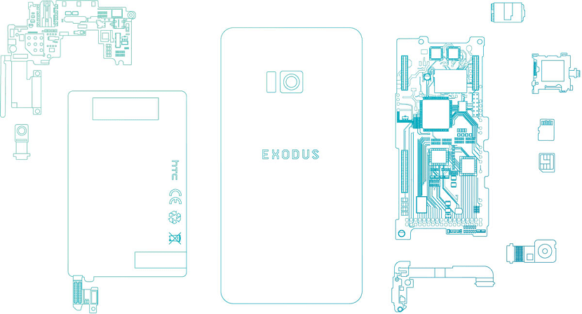 HTC Exodus boceto