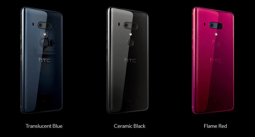 HTC U12+ Colores