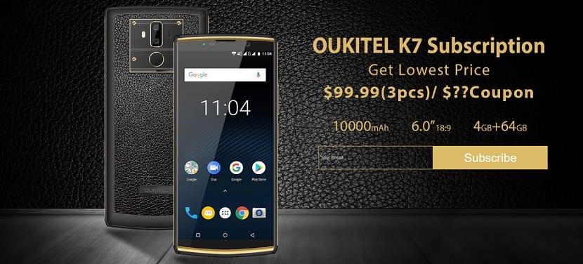 OUKITEL K7 promoción