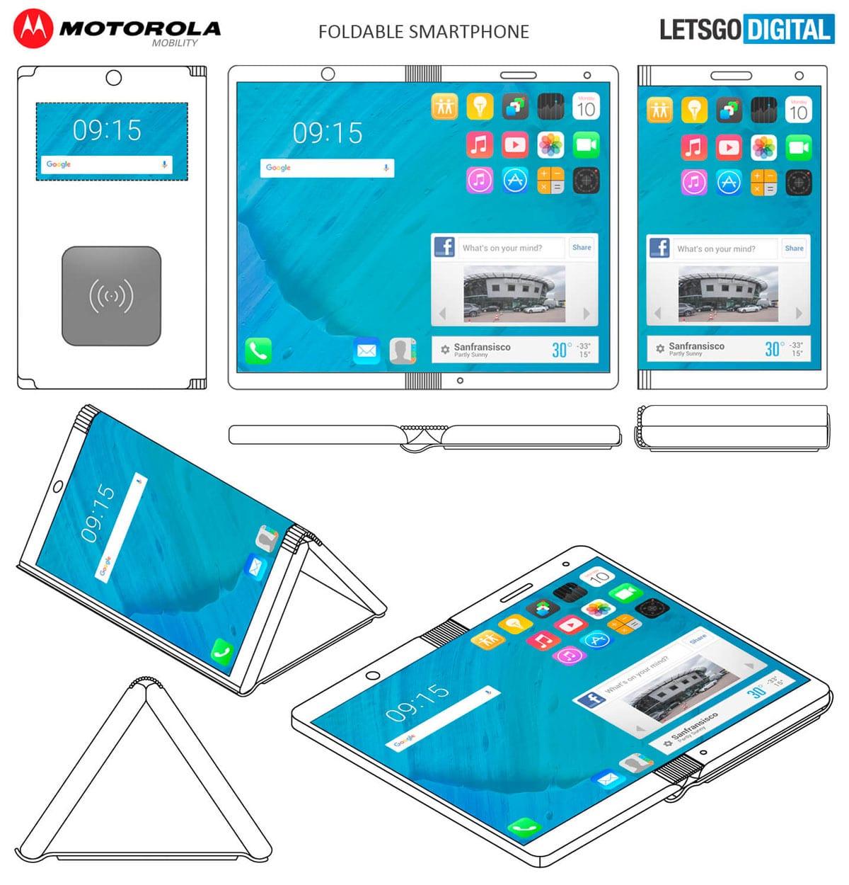 Motorola teléfono plegable