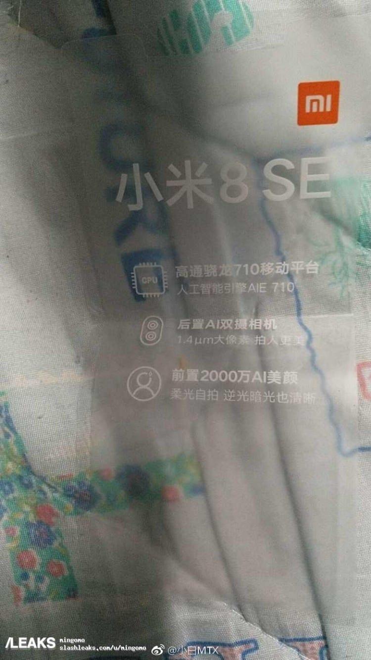 Xiaomi Mi 8 SE filtracion
