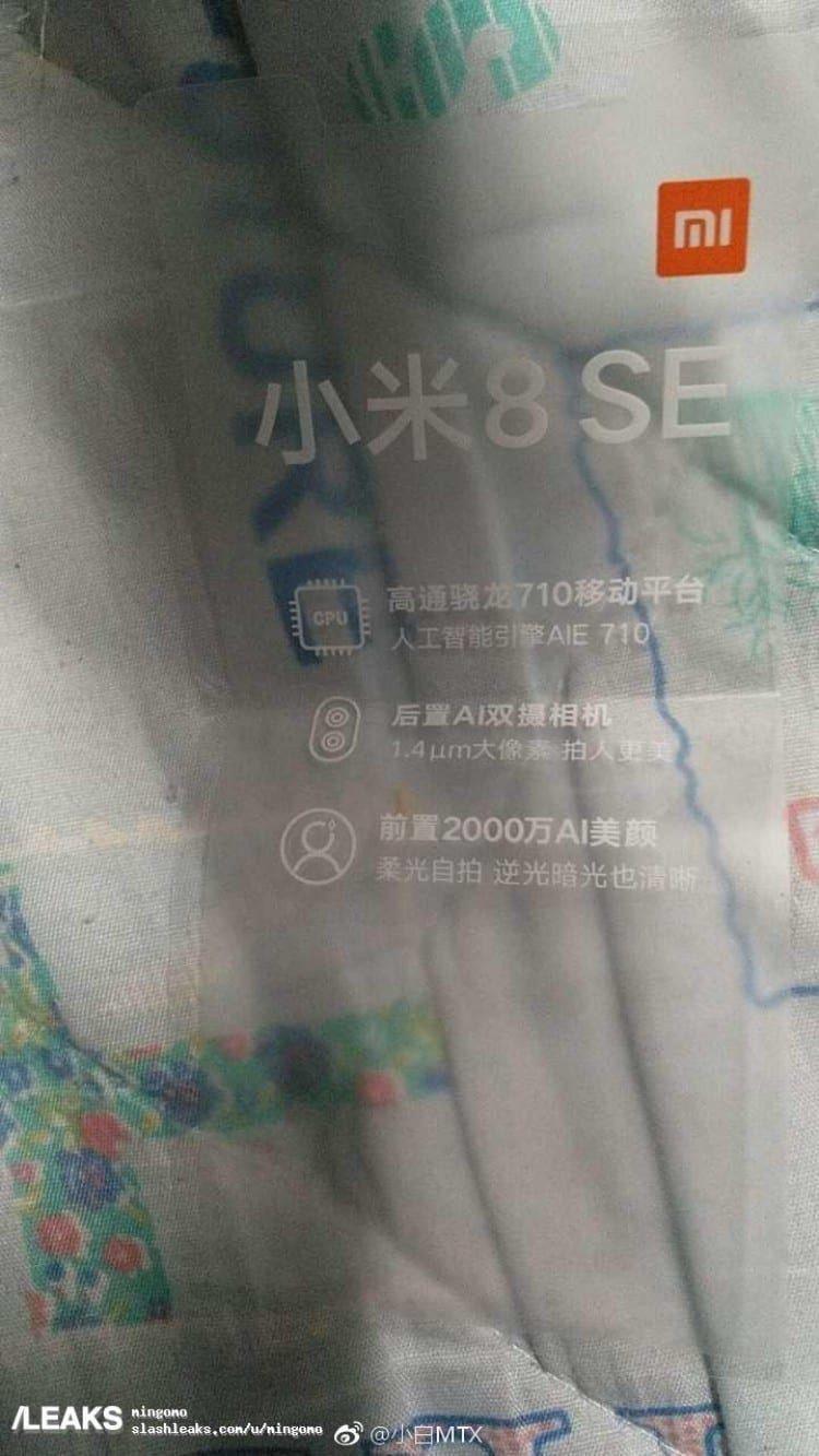 Xiaomi Mi ocho SE filtracion