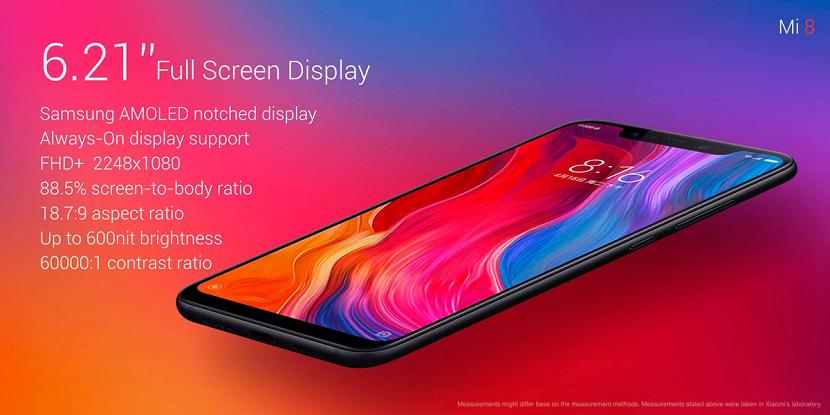Xiaomi Mi ocho pantalla