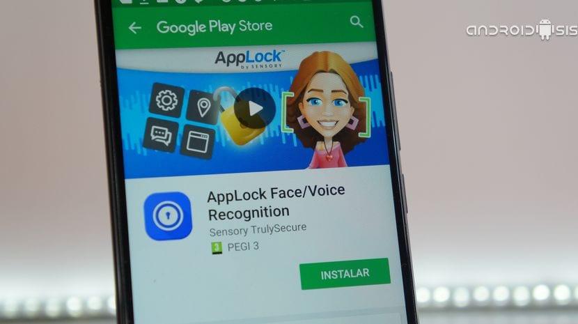 Aplicación de desbloqueo facial más voz