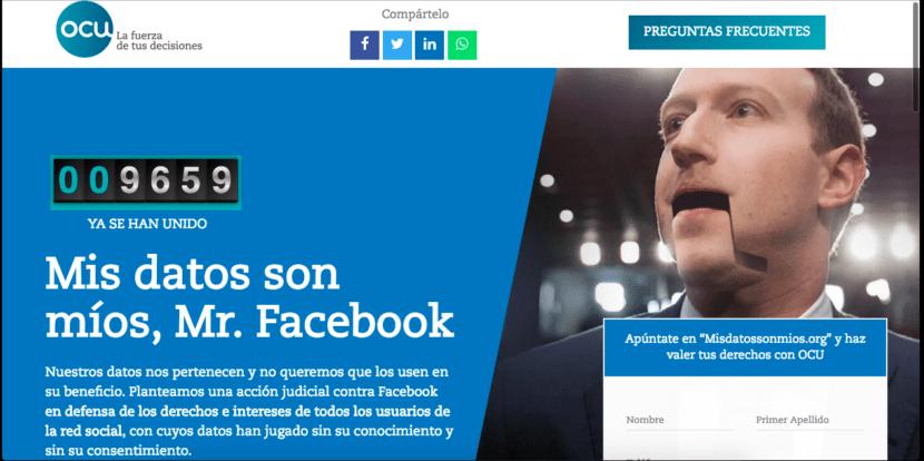 Demanda colectiva contra Facebook en España
